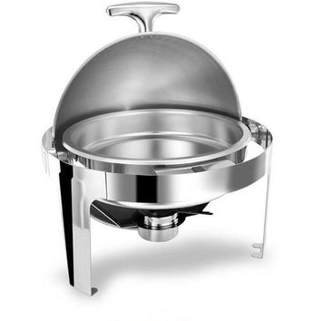 Hot Sale Stainless Steel Flip Round Chafing Dish