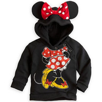 2016  Lovely Cute Mouse Kids Toddlers Boys Girls Long Sleeve Hoodie Coat Children Autumn Spring Clothes