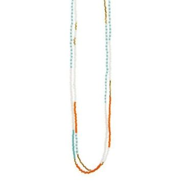 Beaded Long Multi Wrap Necklace
