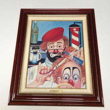 Red Skelton - The Barber Framed Canvas Art Print