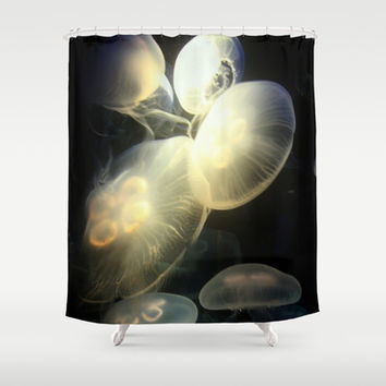 Jellyfish Darkness to Light Shower Curtain by RichCaspian