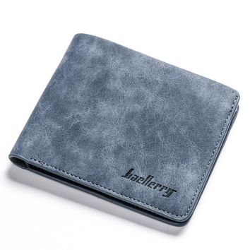 Men's Frosted Leather Billfold Wallet