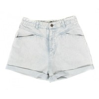 Rokit Recycled Pale Blue Denim Turn Up Shorts W28 | Rokit Recycled | Rokit Vintage Clothing