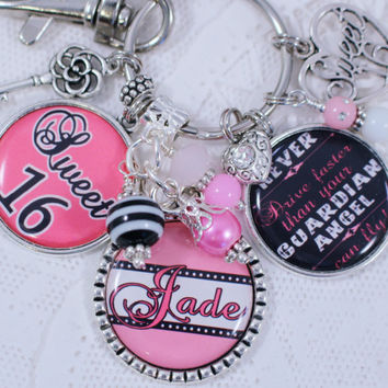 SWEET 16 Personalized GIFT, Sweet 16 Gift, Gift for Sweet 16, Sweet 16, Sweet Sixteen, Sweet 16 Jewelry, Sweet 16 Key Chain, Personalized