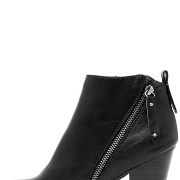 Cordelia Black High Heel Ankle Booties