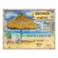Destination Paradise Tropical Beach Birthday Party