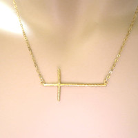 Modern cross necklace, big cross necklace, cross pendant, cross jewelry, cross necklace, goldfilled necklace, gift, birthday, new year gift