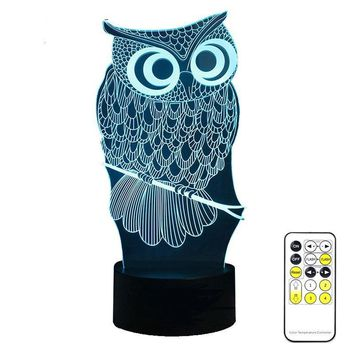 Touch Owl Night Light 7 Colors Change Mood Lamp LED Nightlight