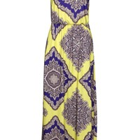 Petite Rosie Neon Paisley Twist Back Maxi Dress