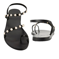 Ancient Greek Sandals Apli Eleftheria Pearl Detail Sandals - INTERMIX®
