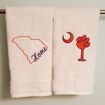 Clemson SC Towel Set