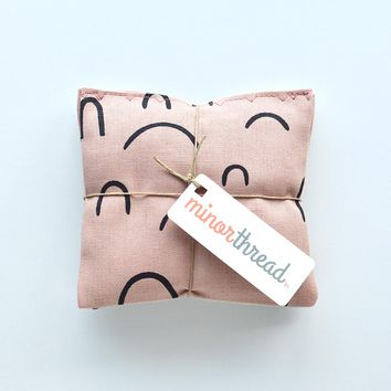 Organic Lavender Sachets in Arroyo AOU in Rose Pink Set of 2