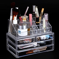 Songmics Acrylic Cosmetic/makeup Organizer Jewelry Display Box Bathroom Storage Case Drawers UJMU04T