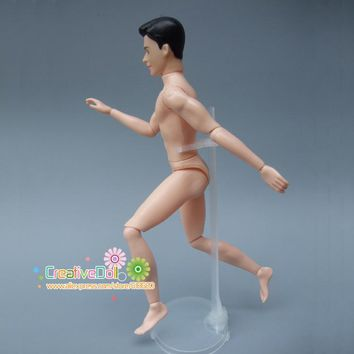 Moveable Joints doll naked body for barbie doll boy friend ken doll with head toy gift doll