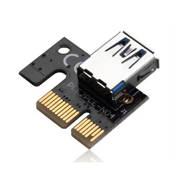Hot Selling USB 3.0 PCI-E Extention Cable Flex Ribbon 1X To 16X Riser Card Adapter Power with SATA 6pin Card Adapter#25