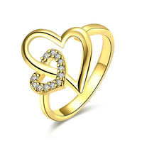 Heart In Heart Gold Plated Ring