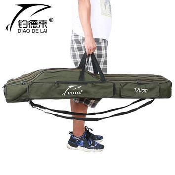 Portable Fishing Bags Folding Canvas Fishing Rod Carrier Pole Tools Storage Pesca Equiptment