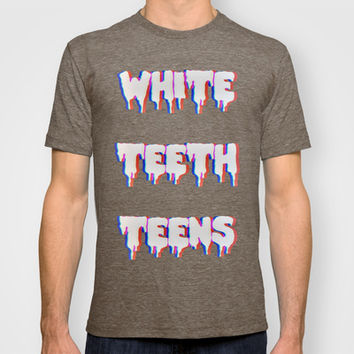 White Teeth Teens T-shirt by Marvin Fly