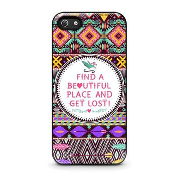 PIECE TRIBAL PATTERN 2 iPhone 5 / 5S / SE Case Cover