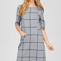 Work To Play Shift Dress - Gray