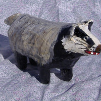 Eurasian Badger- Paper Mache Amimal Sculpture