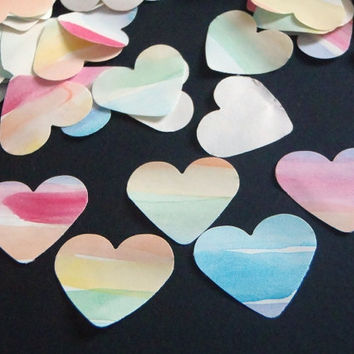 110 rainbow heart paper gay wedding confetti baby shower wedding party favor watercolor gay pride table decor scrapbooking lasoffittadiste