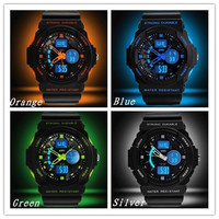 Men's Outdoor Sports Multi-function LED Electronic Watch Noctilucent Waterproof Watch Stainless Quartz Gift