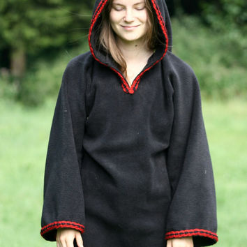 Gothic dress - Festival Elf Dress - Medieval Tunic with Pixie Pointy Hoodie - Game of Thrones Costum - Link hoodie - elven dress- Halloween