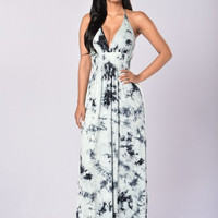 Tied Down Maxi Dress - Mint