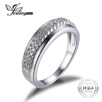 JewelryPalace 925 Sterling Silver Anniversary Wedding Band Channel Set Ring Jewelry For Women 2016 High Quality