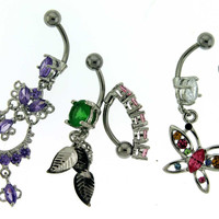Assortment-A5 of 5 Belly Rings - Limited 1 per Order per Day.
