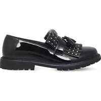 BURBERRY - Oaktree studded patent-leather loafers | Selfridges.com