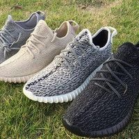 Yeezy Boost 350 1:1 Top Quality Yeezy Shoes Kanye West Running Shoes with Original Box Discount Yeezy 350 Boost Black Baskeball Shoes
