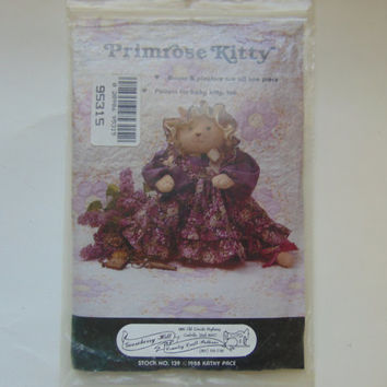Primerose Kitty 13 inch doll includes baby kitty Craft Sewing Pattern by Gooseberry Hill