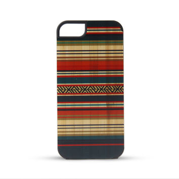 Bamboo Carpet Print Colorful Wooden Case For iPhone 5 5S
