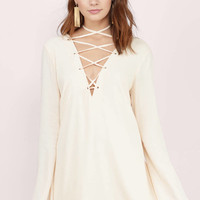 Laced Up High Shift Dress