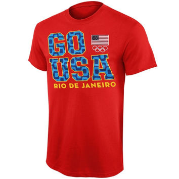 United States Olympic Team Go Rio 2016 T-Shirt – Red