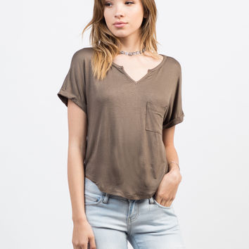 Boxy Pocket Tee - Large