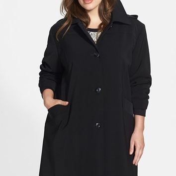 Plus Size Women's Gallery 'Napage' Raincoat with Detachable Hood & Liner