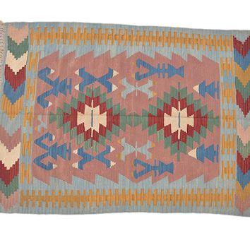 "Turkish Kilim Turkish 3' 10"" X 5' 2"" Handmade Rug"
