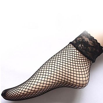 2017 New Fashion New Sexy Lace Ankle Fashion Ruffle Mesh Socks For Women Lady