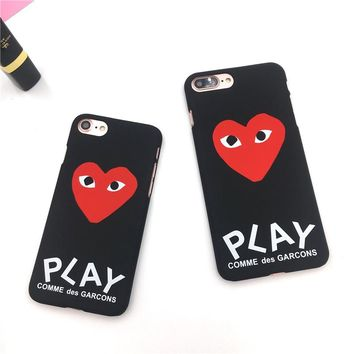 Play Heart Heart iPhone Case - Available for iPhone X, 8 Plus, 8, 7 Plus, 7, 6/6s, 6 Plus/6s Plus, 5s/SE
