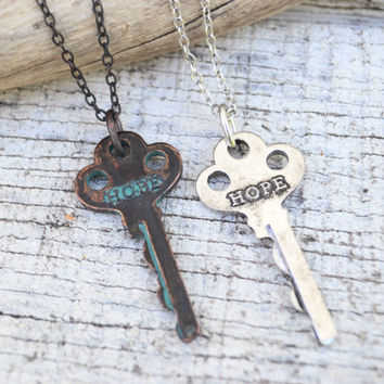 Inspiration Key Necklace- Hope
