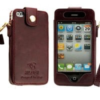 Iphone 4/5 Leather Case   (good Quality)  brown,iphone 4s leather case