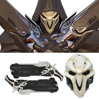 Overwatch Reaper Cosplay Double Guns Mask