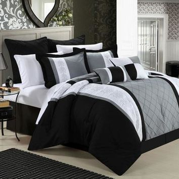 Chic Home Livingston 12 Piece Comforter Set - Walmart.com