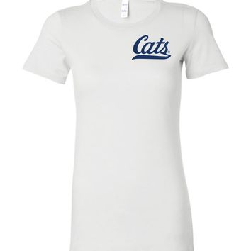 Official NCAA Venley University of Arizona Wildcats U of A Wilber Wildcat BEAR DOWN! Cats Baseball Tail Ladies Favorite Tee - 12UA-1-a