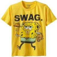 Sponge Bob Squarepants Big Boys' Swag Tee, Daisy, Small