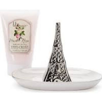 Vanilla Rose Hand Cream & Ceramic Ring Holder Gift Set