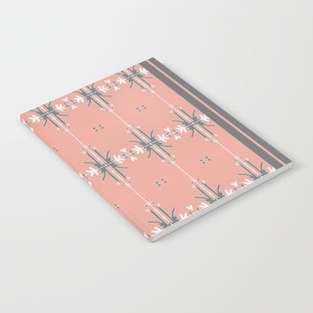 Pastel Pink, modern pattern with gray Notebook by ACKelly